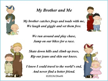 My Brother and Me-A Poem and Activity