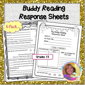 Buddy Reading Response Sheets 4-Pack