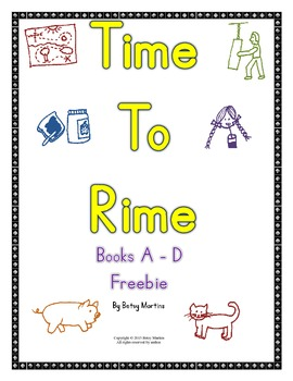 Word Families - Time to Rime Books A - D Freebie