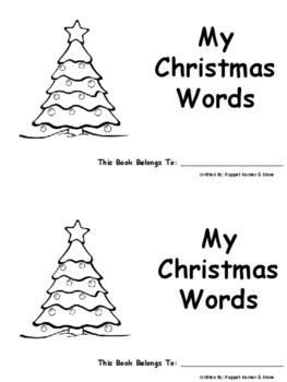 My Christmas Words Book (vocabulary)