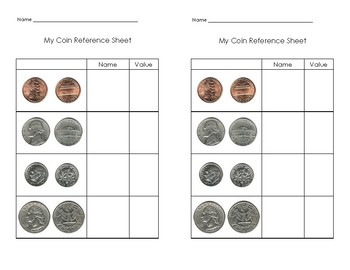My Coin Reference Sheet