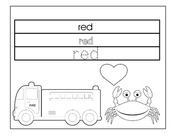 My Color Book: Students Trace, Color and Write Primary Col