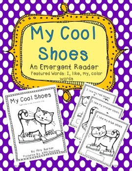 My Cool Shoes: Read and Label {An Emergent Reader}