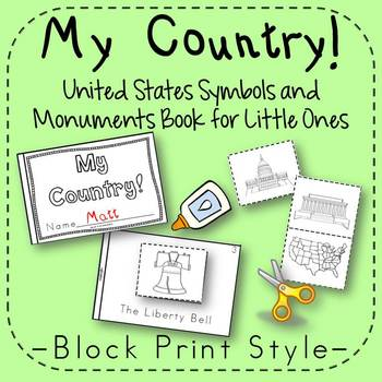 US Symbols and Monuments Book Kindergarten and 1st Grade {