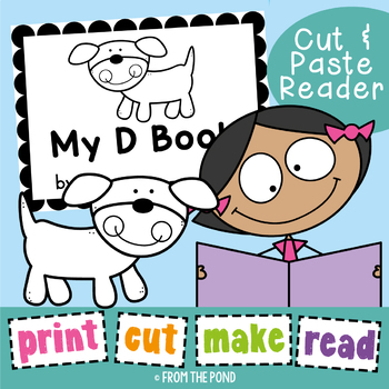 Phonics Printable Reader - My D Book - Print Cut Make and READ
