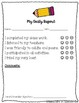 My Daily Report - Behavior Sheet - Great Communication Tool!