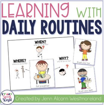 My Daily Routines {For Speech Therapy & Special Education