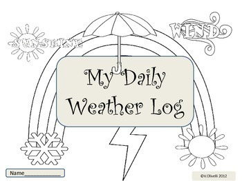 ESL Activity: My Daily Weather Log-Early Primary and ELL N