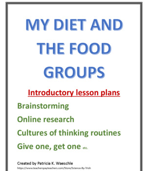 My Diet and the Food Pyramid - Introductory Lesson plans a