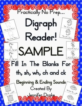 My Digraph Book!  FREE Sampler for Initial & Ending Sound
