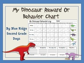 My Dinosaur Reward Or Behavior Chart