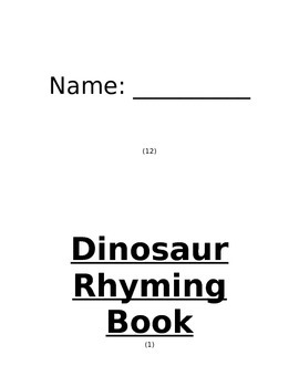 My Dinosaur Rhyming Book