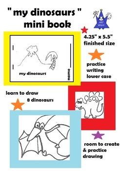 Art is ... Drawing Dinosaurs Mini Book    (Draw 8 Cartoon