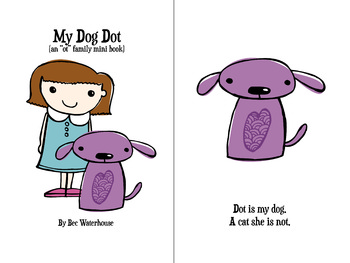 "My Dog Dot (colour) ""OT"" word family mini book"
