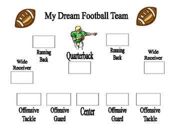 My Dream Football Team Graphic Organizers