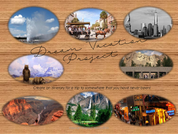 My Dream Vacation Geography Project Unit