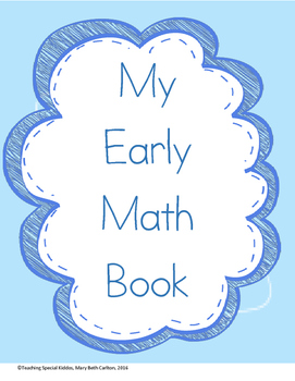 My Early Math Book Adapted Book/ File folder activities