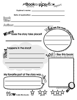 Free printable book report template