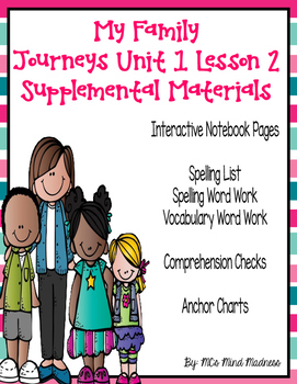 My Family Journeys Unit 1 Lesson 2