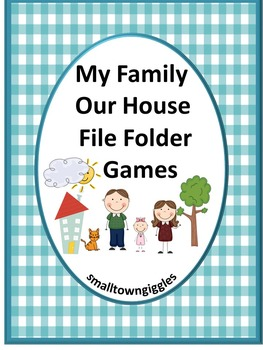Family Unit Our House Members Kindergarten Math & Literacy