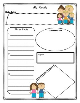 My Family Story Map Graphic Organizer