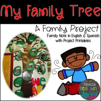 My Family Tree (A Family Project) English and Spanish Pare