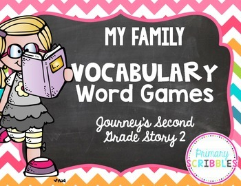My Family Vocabulary Games ~Goes Along with Journey's Seco