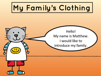 My Family's Clothing – Vocabulary Presentation and Reader