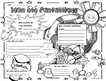 Back to School-My Fantastic Summer:Poster/Icebreaker Activ