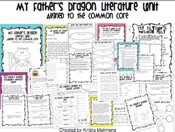 My Father's Dragon Literature Unit- Aligned to the Common Core
