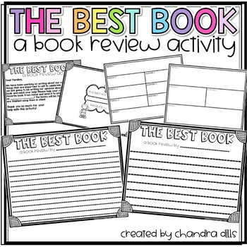 My Favorite Book: A Book Review Activity