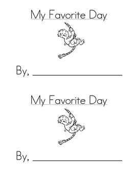 Sight Word Emergent Reader: My Favorite Day (went)