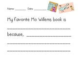 My Favorite Mo Willems Book is... {FREEBIE!}