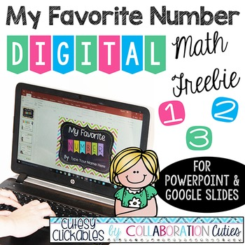 My Favorite Number Digital Math Freebie {PowerPoint or Goo