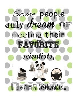 My Favorite Scientists Decor