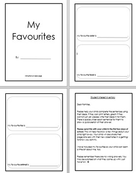 My Favourites Booklet