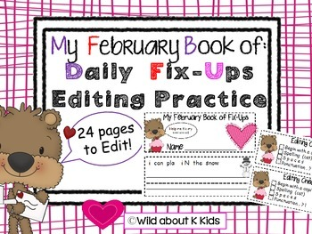 My February Mini Book of Editing Practice