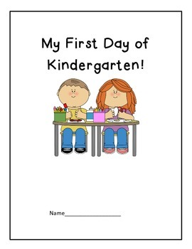 My First Day of Kindergarten! (print & fold book)