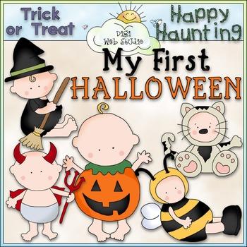 My First Halloween Clip Art - Halloween Babies Clip Art -