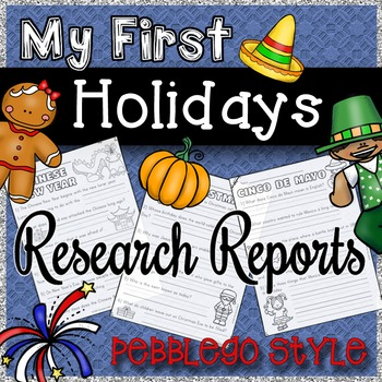 My First Holiday Reports: PebbleGo Style