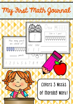 My First Math Journal *Covers 3 weeks of morning work!*