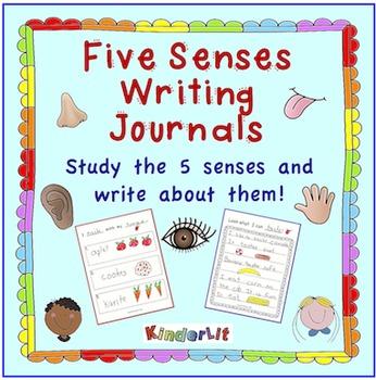 My Five Senses - A Kindergarten Writing Journal