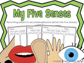 My Five Senses - Recording Sheets