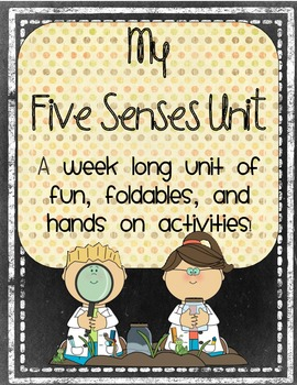 My Five Senses Unit