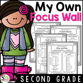 My Focus Wall 2nd Grade Houghton Mifflin Journeys Refriger