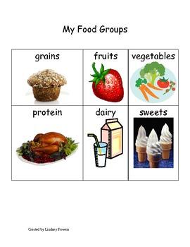 My Food Group Words