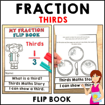 My Fraction Flip Book Thirds - Independent Activities Form