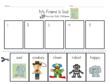 My Friend is Sad - Mo Willems (Sequence/Retell)