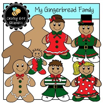 My Gingerbread Family Clip Art Set