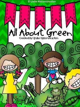 Color Books;Green;Includes worksheets;Cut/Paste Activit;Co